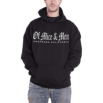 Of Mice & Men Hoodie Southern California Band Logo Official Mens Black Pullover