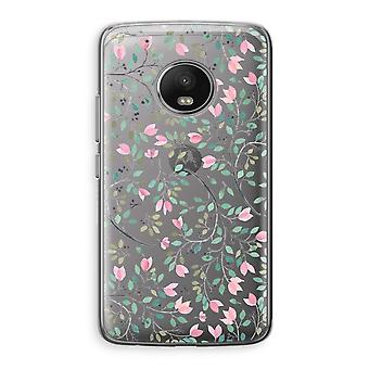 Motorola Moto G5 Transparent Case (Soft) - Dainty flowers