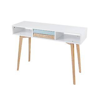 Commode DRESSOIR tabel console tabel kant tabel wit blauw hout