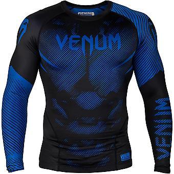 Venum No-Gi 2.0 lange mouwen MMA compressie Rashguard - zwart/blauw