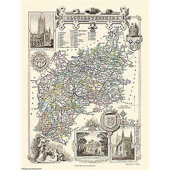 Map of Gloucestershire 1836 by Thomas Moule 1000 Piece Jigsaw Puzzle (jhg)