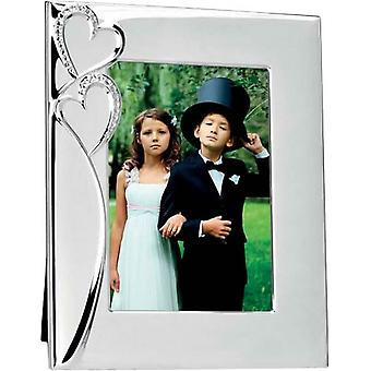 David Van Hagen Silver Plated Heart Photo Frame 5x7 - Silver
