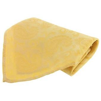 David Van Hagen Large Paisley Silk Handkerchief - Yellow