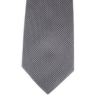 David Van Hagen Houndstooth Tie - Grey/White