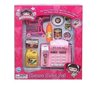 Scankassa roze met accessoires