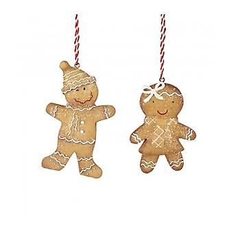 Heaven Sends 2 Gingerbread People Decorations