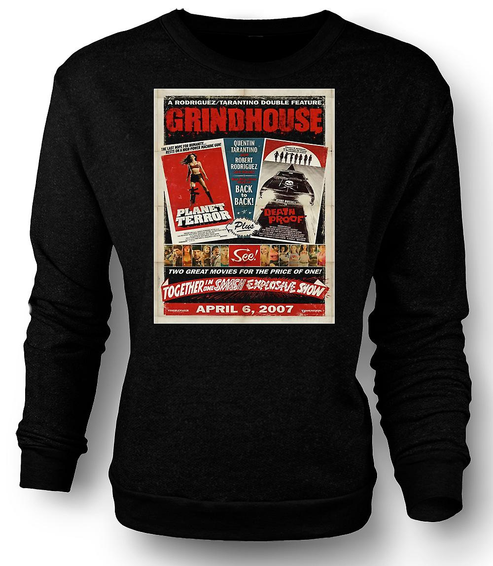 Mens Sweatshirt Grindhouse Planet Terror / Death Proof