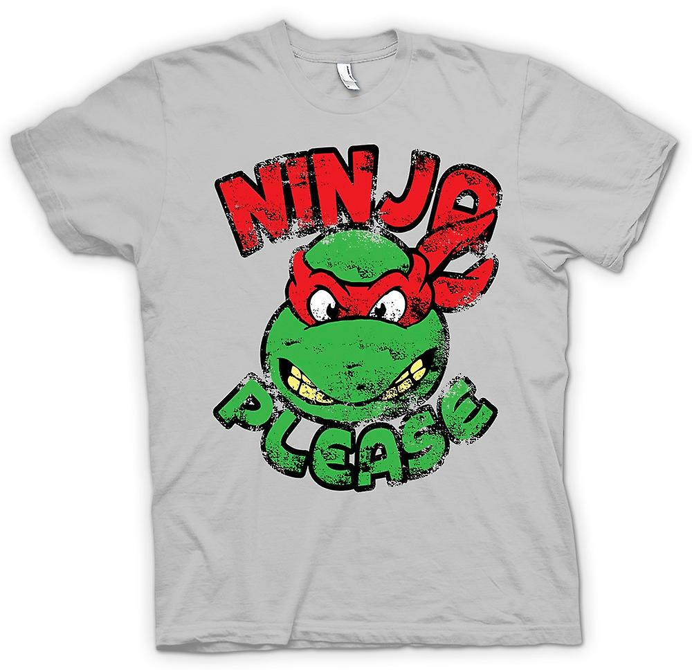 Mens T-shirt - Ninja Please - Raphael