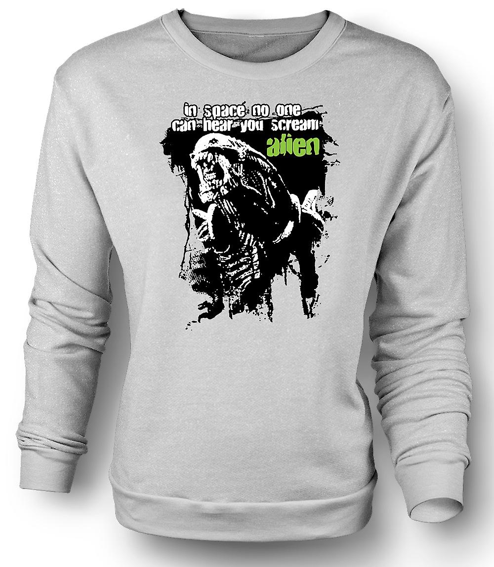 Mens Sweatshirt Alien Hear You Scream - Sci Fi