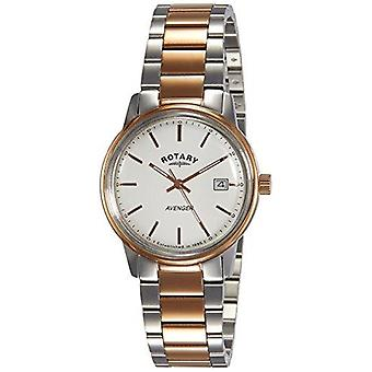 Rotary Avenger Rose Gold Two Tone Stainless Steel Strap Men's Watch GB02875/06 35mm