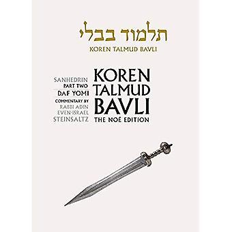 Koren Talmud Bavli: Vol. 30: Sanhedrin Part 2, Daf Yomi, Hebrew/English, B/W