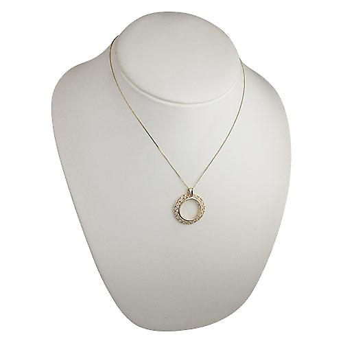 9ct Gold 28mm Half Sovereign mount with pierced hearts edge Pendant with a curb Chain 18 inches