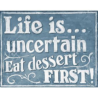 Eat Dessert First Poster Print by J Larson