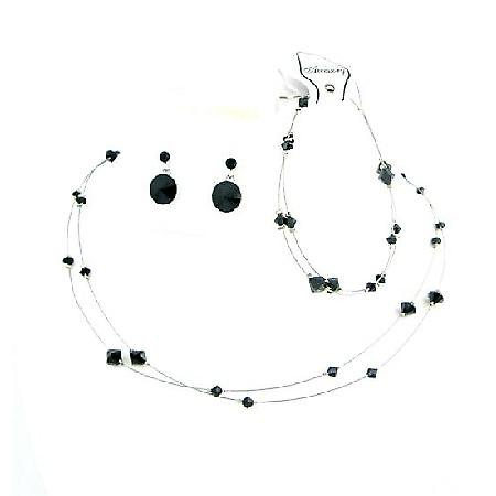 Striking smashing Black Dress Jewelry Affordable Buy Complete Set