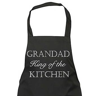 Abuelo, rey de la cocina negro delantal
