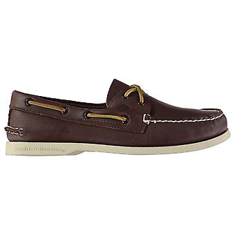 SPERRY Mens Authentic Two Eye Leather Boat Shoes