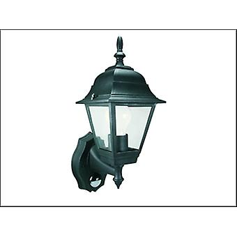 ES94 4-PANEL COACH LANTERN WITH MOTION DETECTOR - BLACK
