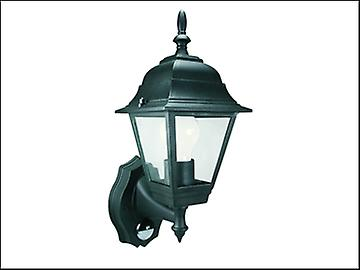 Byron ES94 4-Panel Coach Lantern With Motion Detector Black