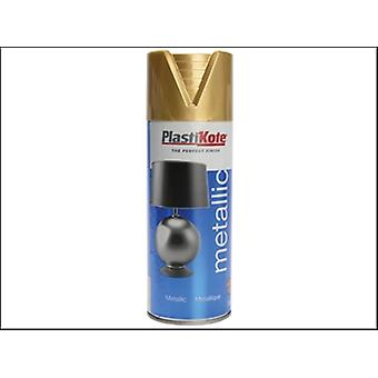 Plasti-Kote Metallic Spray Gold 400ml