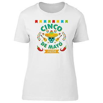 Fiesta Sugar Skull Cinco De Mayo Tee Men's -Image by Shutterstock