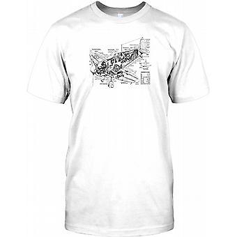 Schaltplan Spitfire - WW2 Legende Kinder T Shirt
