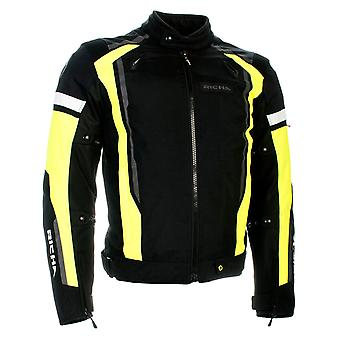 Richa Black-Fluorescent Airstream 2 Waterproof Motorcycle Jacket