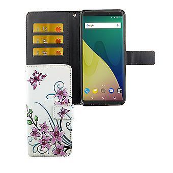 Caso malote do telefone móvel para móvel vista WIKO XL flor de lótus