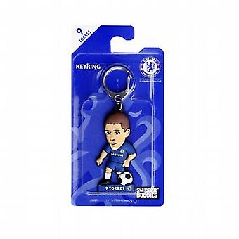Chelsea Official Licensed Soccer Buddies PVC Football Keyring - Fernando Torres