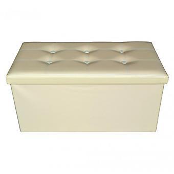 Rebecca meubles Puff tabouret beige tronc design moderne meubles salon Maison