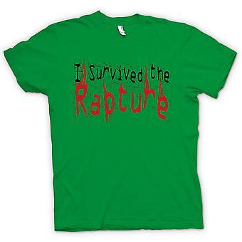 Mens T-shirt - I Survived The Rapture - Apocolypse