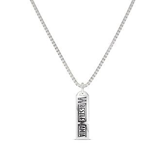 Wrestle Mania - Wwe Women 's Wrestlemania Dog Tag Pendant In Sterling Silver