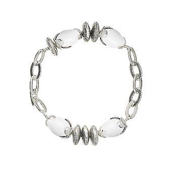Pilgrim Ladies´ bracelet :birds white/silver (490012)