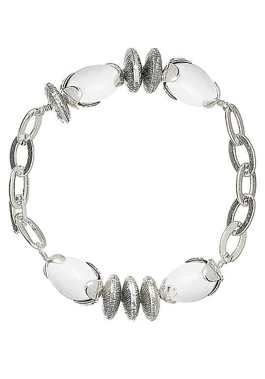 Pellegrino Damenarmband: uccelli bianco/argento (490012)