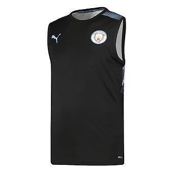 2019-2020 Manchester City Puma Sleeveless Shirt (Black)
