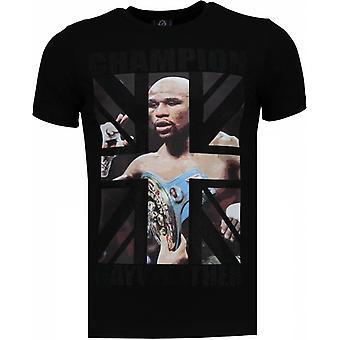 Mayweather-Rhinestone T-shirt-Black