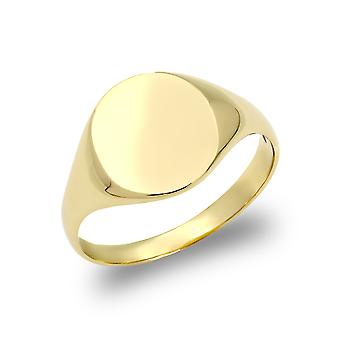 Jewelco London Boys Solid 9ct Yellow Gold Oval Signet Ring
