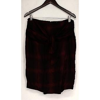 Giuliana Zip Closure Tie Front Wrap Detail Skirt Red Womens 486-656