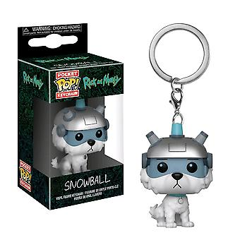 Rick and Morty Snowball Pocket Pop! Keychain