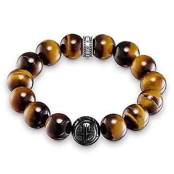 Thomas Sabo silver mäns glas armband 925 A1574-806 -2-L16