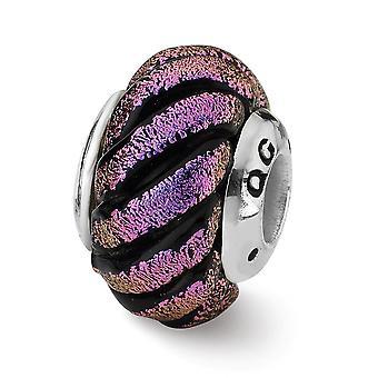 925 Sterling hopea antiikki viimeistely heijastukset violetti pyörre Dichroic lasi helmi charmia