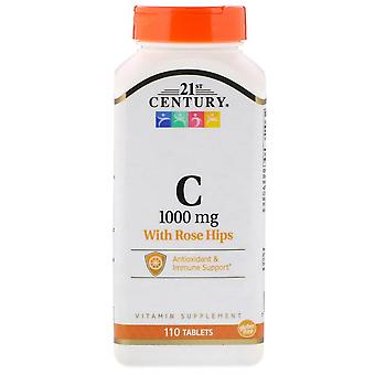 21st century vitamin c, 1000 mg, with rose hips, tablets, 110 ea