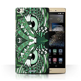 STUFF4 Tilfelle/Cover for Huawei P8 Max/ugle-Green/Aztec dyr