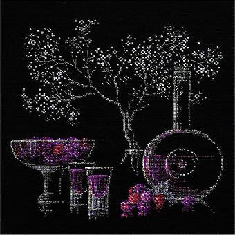Still Life With Liquor Counted Cross Stitch Kit 11.75