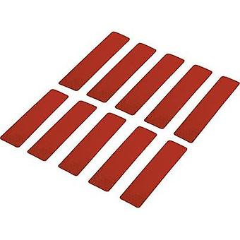 Adhesive strips Conrad Components RTS Red (L x W) 100 mm x 25 mm