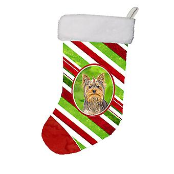Candy Cane Holiday Christmas Yorkie / Yorkshire Terrier Christmas Stocking