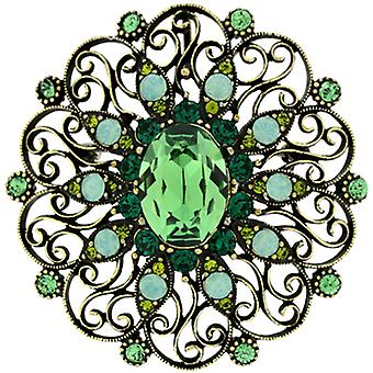 Brooches Store Large Peridot Green Swarovski Crystal Victorian Flower Brooch Pen