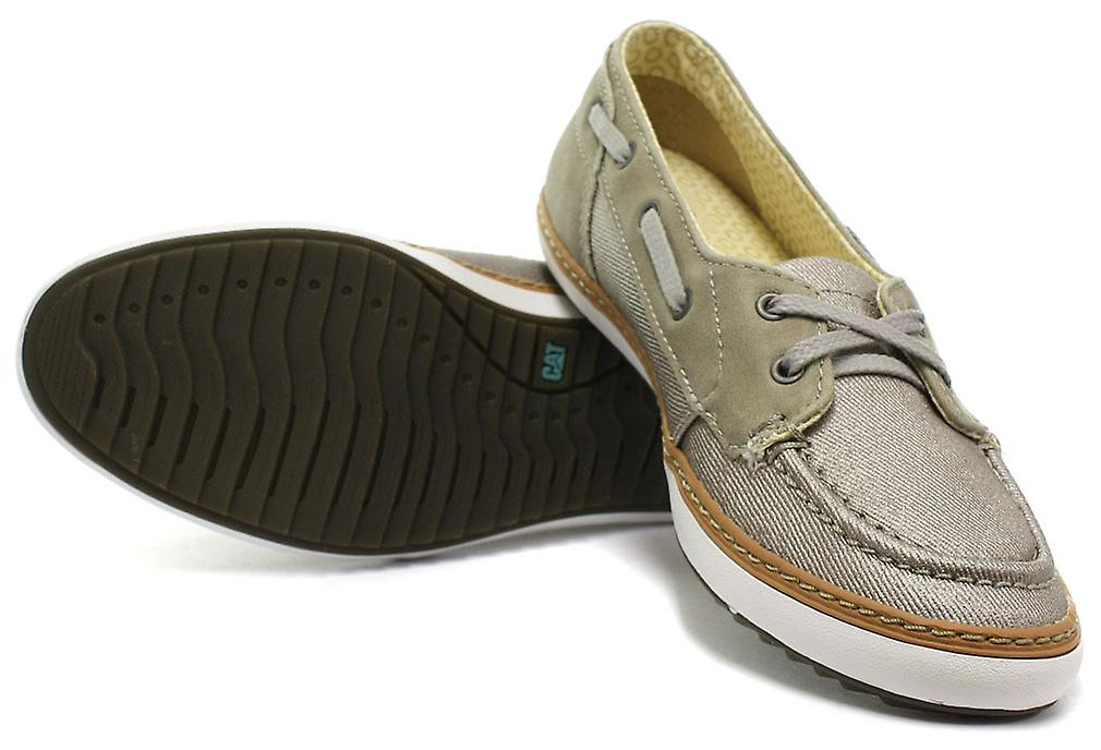 Caterpillar Luster Grey Womens Mocassin Slip On Shoes