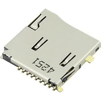 microSD Card connector Push, Push Attend 1 pc(s)