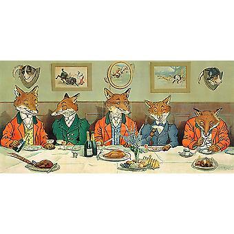 Pan Hunt Foxs śniadanie Poster Print przez Harry B Neilson (24 x 14)