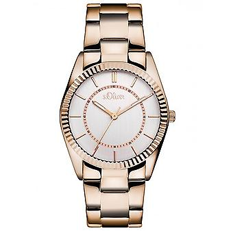 s.Oliver women's watch wristwatch stainless steel SO-3190-MQ